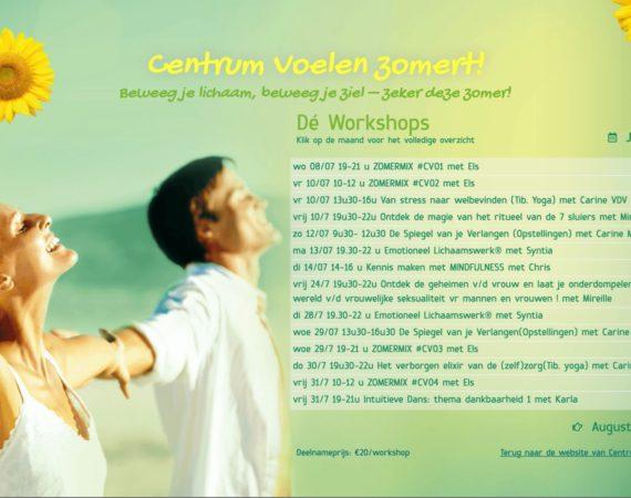Zomeraanbod Workshops 2020